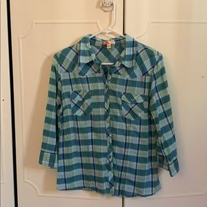 Forever 21 plaid button down